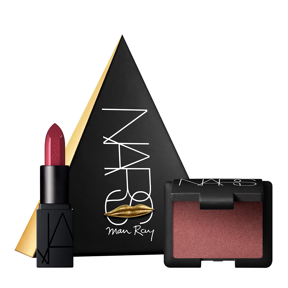 Love Triangles duo viso e labbra regalo di Natale Nars mini size rossetto e blush, lipstick Nars, Orgasm blush NArs, mirtilla malcontenta beauty blog