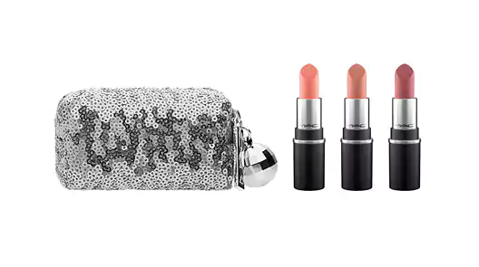 Snow ball mini lipstick kit Mac Cosmetics cofanetto make up regalo di Natale sotto i 50 euro Mirtilla Malcontenta Beauty Blog