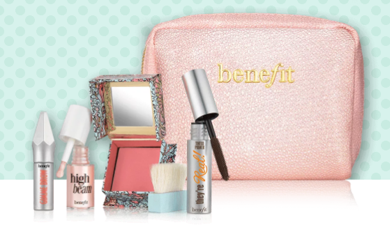 Sunday my prince will come kit per un trucco naturale Benefit cosmetics cofanetto regalo di Natale sotto i 50 euro Mirtilla Malcontenta Beauty Blog