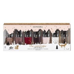 The Wonderful Land of Nails cofanetto 7 smalti regalo di Natale Sephora Collection